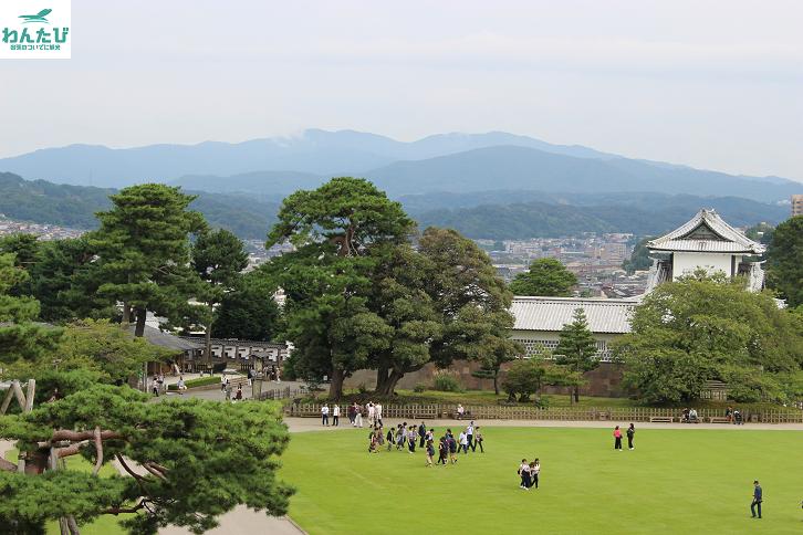 金沢城俯瞰