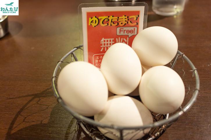 白樺山荘ゆで卵無料
