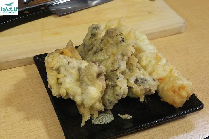 天ぷらあきちゃんのホルモン天ぷら