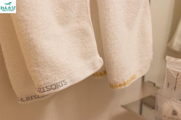 アパホテルのタオル