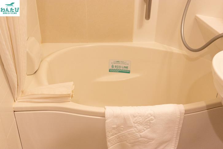 アパホテルの浴槽